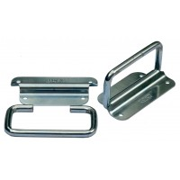 A Pair of Mild Steel Zinc Plated Handles 8mm dia