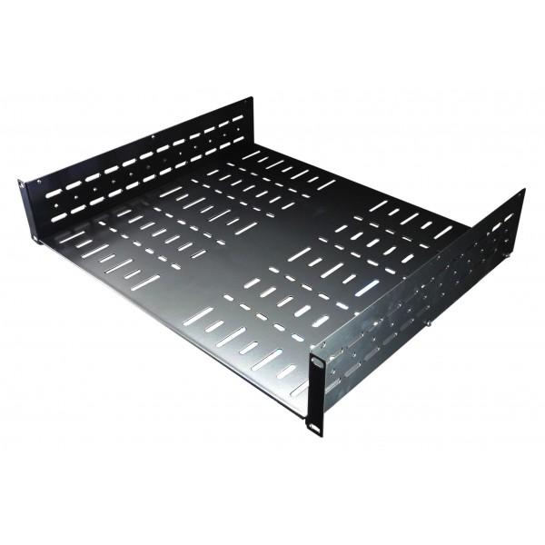 2u 19 inch standard rack shelf 390mm flat pack design allmetalparts. Black Bedroom Furniture Sets. Home Design Ideas