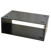 4u 19 inch stackable cabinet 300mm deep front fix only