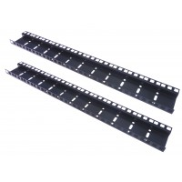 12U DOUBLE HOLE RACK STRIP PAIR