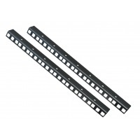 8U RACK STRIPS PAIR Black coated finish