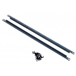 19 inch 5U mounting rail bars for 5U modules with 40 black M4 screws