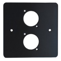 2 WAY XLR BLACK SINGLE GANG FACE PLATE STEEL