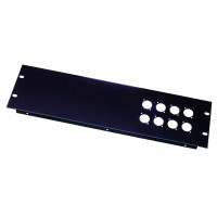 3U 8 XLR 'D' series holes rack folded panel