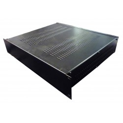 2U 19 inch 390mm rack mount vented enclosure chassis case