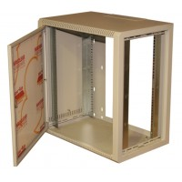 12u 19 inch rack network wall mount cabinet in grey with door