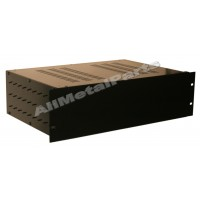 3U 19 inch 300mm rack mount vented top and sides enclosure chassis case