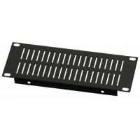2U 10.5 inch Half-Rack Slotted Vented Blank Panel