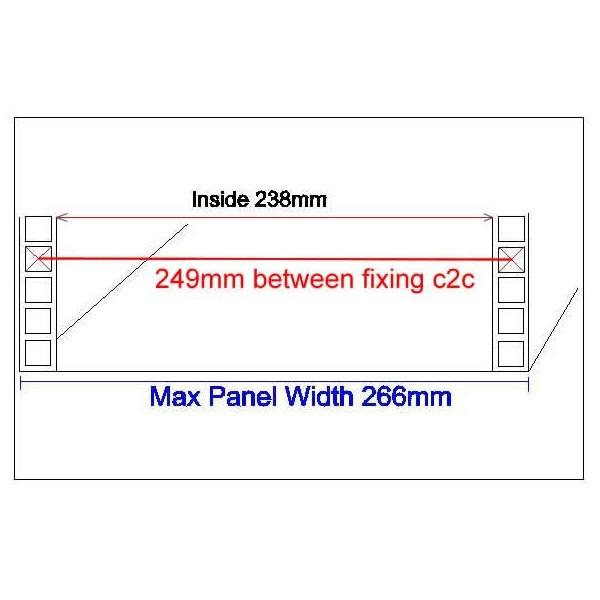 2U 10 5 inch Half-Rack 300mm Stackable Rack Cabinet