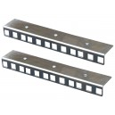 4U ZINC FINISHED RACK STRIP PAIR