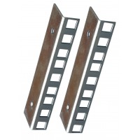 3U ZINC FINISHED RACK STRIP PAIR