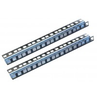 6U ZINC DOUBLE HOLE RACK STRIP PAIR