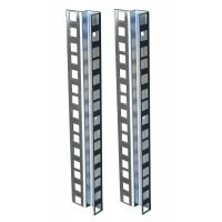 5U ZINC DOUBLE HOLE RACK STRIP PAIR