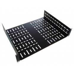 2U 19 inch Vented Rack Shelf 450mm