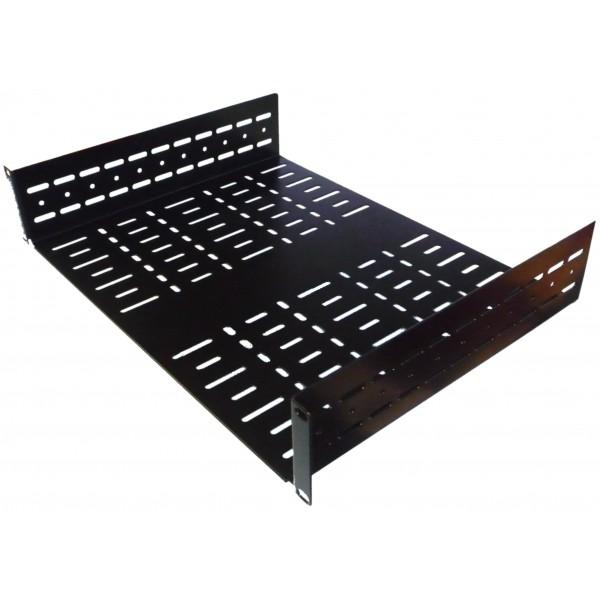 2u 19 inch vented rack shelf 450mm allmetalparts. Black Bedroom Furniture Sets. Home Design Ideas
