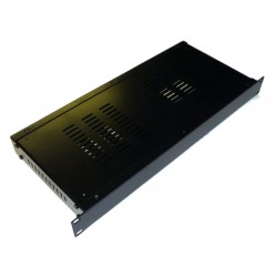 1U 19 inch rack mount 200mm vented enclosure chassis case