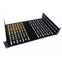 2U 19 inch Rack Shelf 290mm Wider Vented  Black Steel