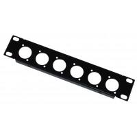 1U 9.5 inch Half-Rack 6 XLR Hole Panel