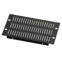 3U 10.5 inch Half-Rack Slotted Vented Blank Panel