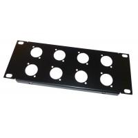 2U 10.5 inch Half-Rack 8 XLR Hole Panel