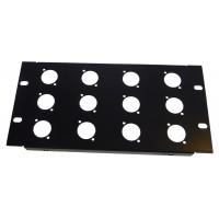 3U 10.5 inch Half-Rack 12 XLR Hole Panel