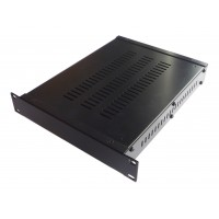 1U 10.5 inch rack mount 300mm vented enclosure chassis case