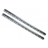 12U RACK STRIP RAILS PAIR ZINC PLATED