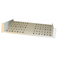 2U 19 inch Grey Standard Rack Shelf, 400mm