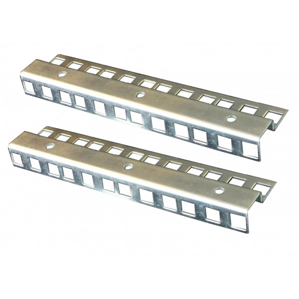 4u zinc double hole rack strip pair allmetalparts. Black Bedroom Furniture Sets. Home Design Ideas