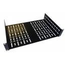 2U 19 inch Rack Shelf 290mm Wider Vented  Black Steel