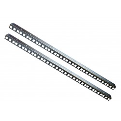 8U RACK STRIP RAILS PAIR ZINC PLATED