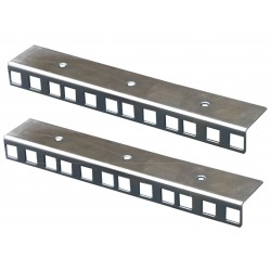 5U ZINC FINISHED RACK STRIP PAIR