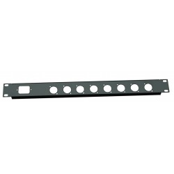1U 19 inch 1 IEC C14  8 XLR Punched hole folded front panel