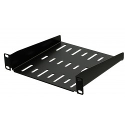 1U 9.5 inch Half-Rack Vented Rack Shelf 185mm deep