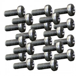 20  M4 x 6mm Dome Head Pozi Drive Screws