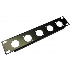 1U 9.5 inch Half-Rack 5 XLR Hole Panel