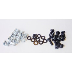 20  M6 FLAT WASHERS, SCREWS,   CAGED NUTS,0.7mm-1.5mm