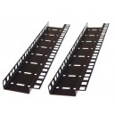8U DOUBLE HOLE RACK STRIP PAIR
