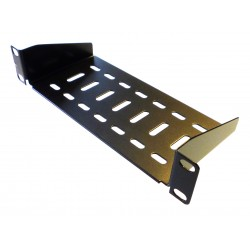 1U 10.5 inch Half-Rack Vented Rack Shelf 100mm deep