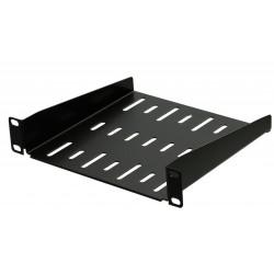 1U 10.5 inch Half-Rack Vented Rack Shelf 185mm deep