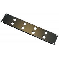 2U 8 XLR 'D' front 19 inch rack panel