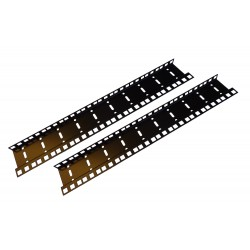 14U DOUBLE HOLE RACK STRIP PAIR