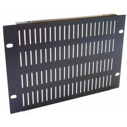 4U 10.5 inch Half-Rack Slotted Vented Blank Panel