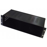 3U 19 inch 200mm rack mount  enclosure chassis NO FRONT PANEL with vented top and sides