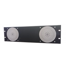 3U Fan Rack Panel, For 2 Fans.