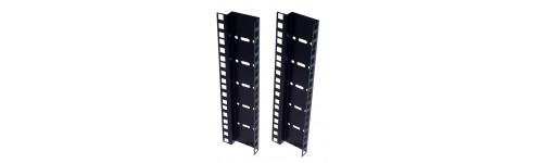 Double hole rack strips black finish