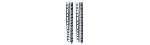 Double hole rack strip Zinc clear finish