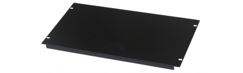2U Rack Panel 19 inch Folded Blank Panel in Black