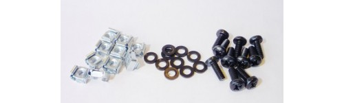 Screws, Flat washers and cage nut packs