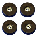 4 rubber feet 38mm x 10mm with steel inserts